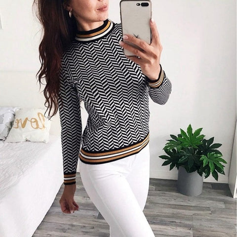 Sweater Jacquard Knitwear Long Sleeve O Neck Soft Thick Jumper Euro Christmas Sweaters