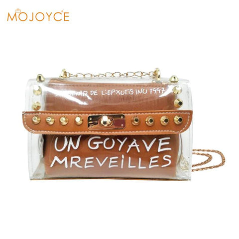 Transparent Clean Chain Crossbody Clutch Shoulder Bags