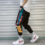 Hip Hop Streetwear Men's Splice Joggers Pants Fashion Men Casual Cargo Pant Trousers