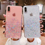 Glitter Bling Sequins Case For iphone 8 7 Plus 6 6s iphone X XR XS MAX 10 Soft TPU Cover