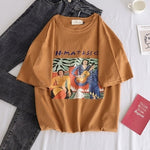 Summer casual letter printed t shirt harajuku ulzzang short sleeve O-neck basic t-shirts