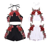 Infant Toddler Baby Girl Floral Party Summer Embroidery Flower Clothes Sets