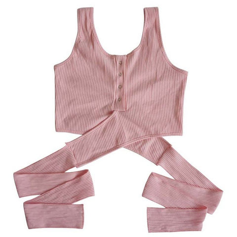 Sexy Bandage Knitted Crop Top Women