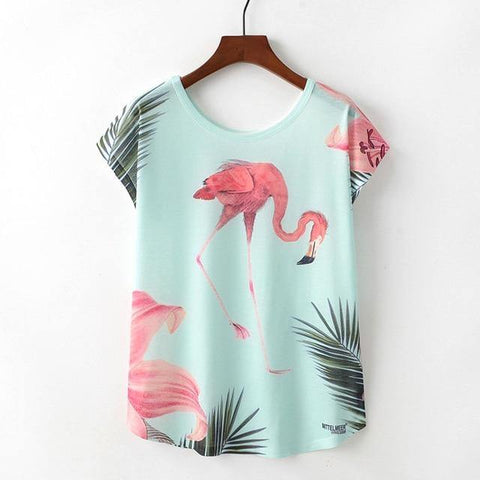 Cute Animal Nice Cat Unicorn Print T-shirt - Outfitter Style