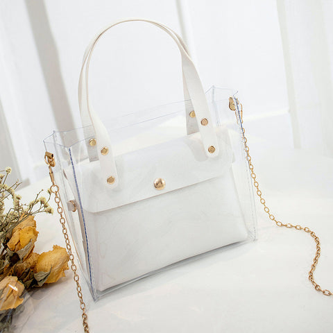 Composite Bags Transparent Bag Shoulder Crossbody Bags Women