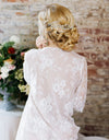 Elyse Lace Mid Length Bridal Robe