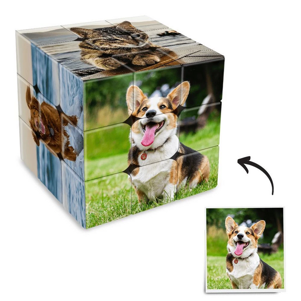 Personalized Pictures Rubik's Cube with 6 photos-For Pets Lover