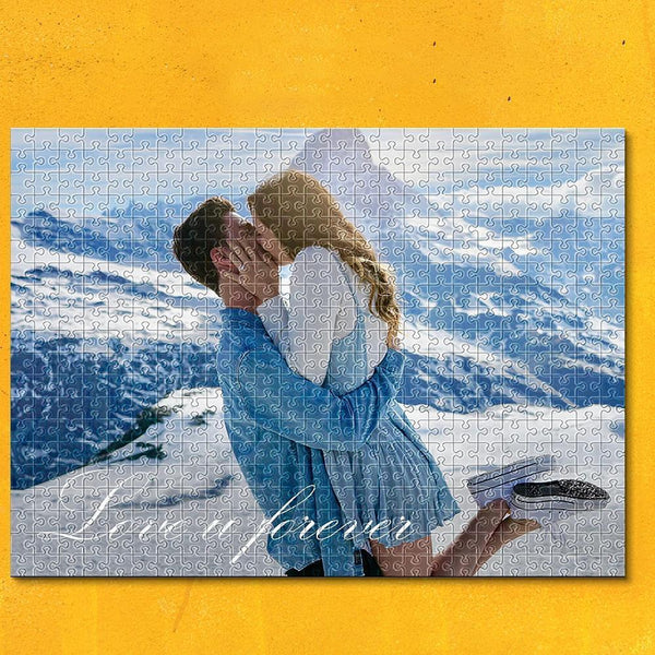 Custom Name&Photo on Jigsaw Puzzle Love Forever