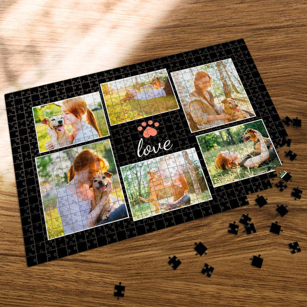 Custom Collage Photo Jigsaw Puzzle Lovely Pet