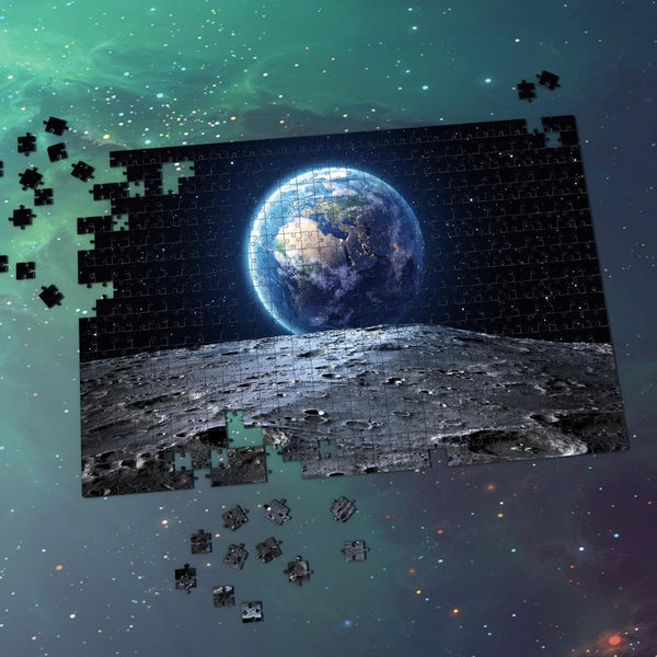 Space Jigsaw Puzzle - Earth And Moon Surface
