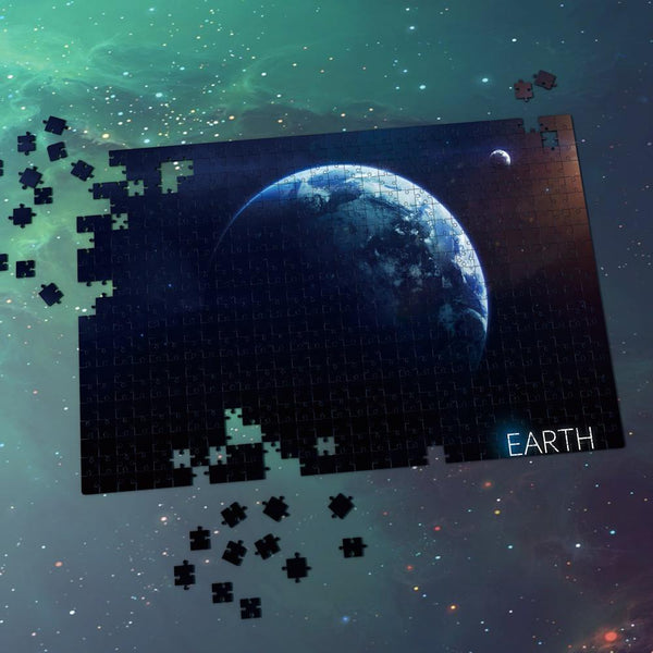 Space Jigsaw Puzzle Universe - Earth With Shadow