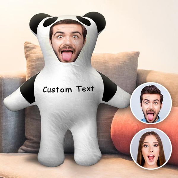 Custom Body Pillow Face Body Pillow Custom Pillow Face Pillow Photo Pillow Two Photos Double Sided Custom Text Pillow Gift Cute Panda Shaped