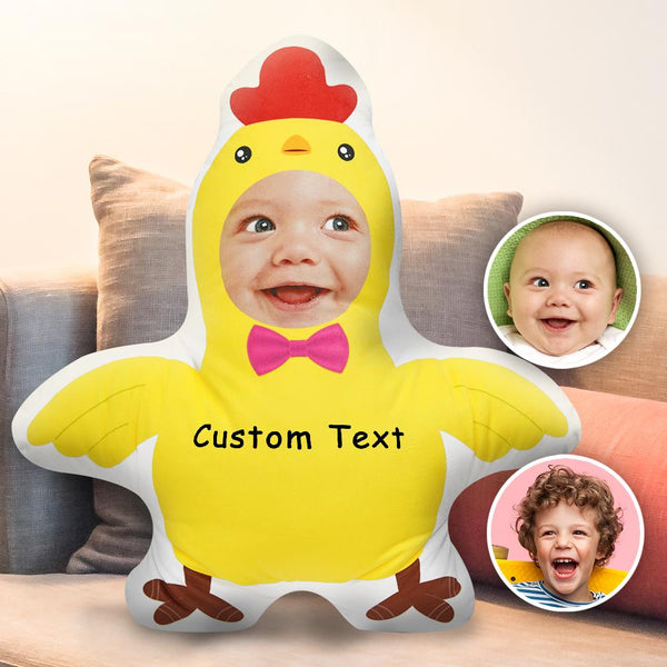 Custom Body Pillow Face Body Pillow Custom Pillow Face Pillow Photo Pillow Two Photos Double Sided Custom Text Pillow Gift Funny Chick Shaped