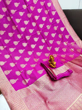 Load image into Gallery viewer, New Design with Golden Rich pallu Pink color Saree with Maching Blouse