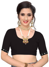 Load image into Gallery viewer, Laycra Malai Silk Ruffle Work With Digital Print Excusive Black Color Party Wear saree for women