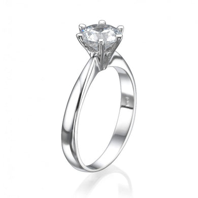 Silver Plated Cubiz Diamond Beautiful Ring for Women