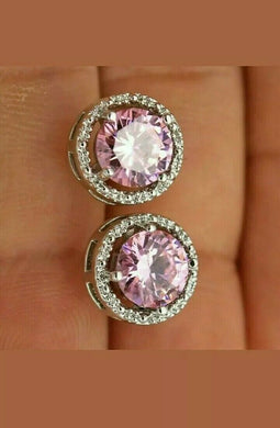 Pink stone cubic diamond, party wear collection stunning design earrings for women