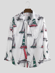 Digital printed Heavy cotton Matirail fancy designer Shirts.