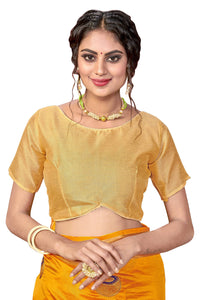 Sana Silk Embroidery Work With Jacquard woven satin patta Border Yellow Color saree for women.