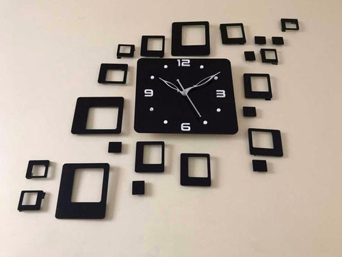 Square block design Acrylic wall watch