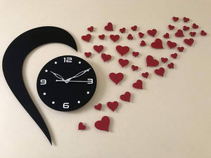Hart shape New design Acrylic wall watch