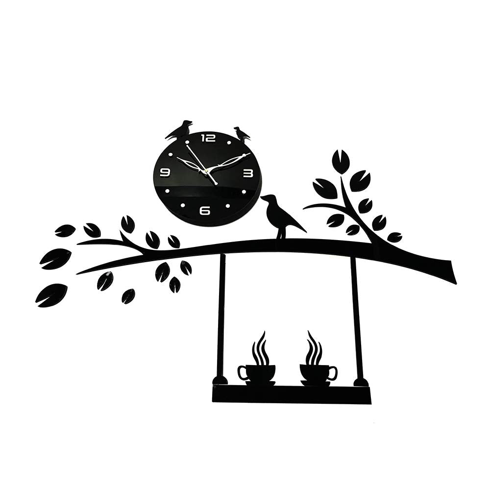 Berd, Dali, and Cup design Acrylic wall watch