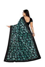 Load image into Gallery viewer, Pure Laycra Malai Silk Saree With Beautiful Ruffle Work Green Color saree for women