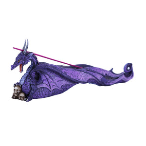 Purple Dragon with Skull Incense Holder