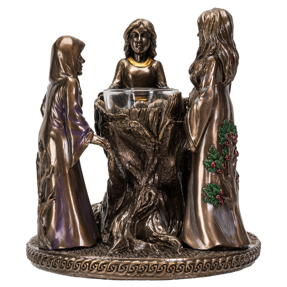 MOTHER MAIDEN CRONE CANDLE HOLDER