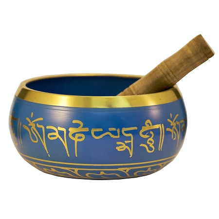 Tibetan Singing Bowl Blue 6""