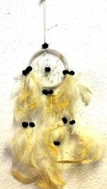 White Dream Catcher With Feathers & Beads