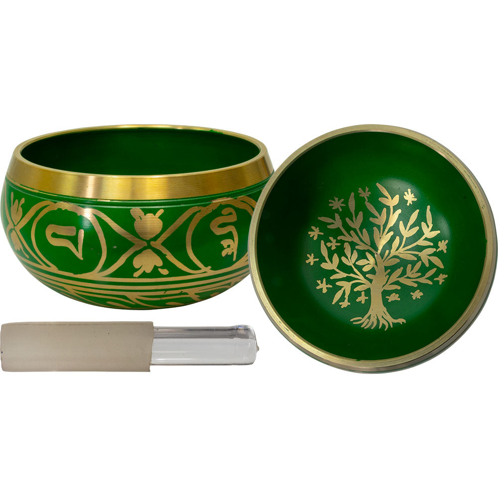 Tree of Life Colored Singing Bowl Small - Green
