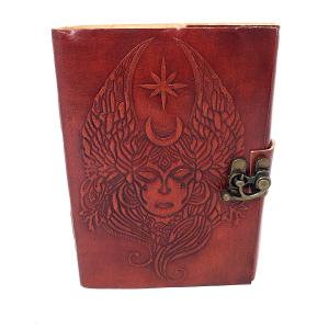 Moon Goddess Leather Journal  with Latch Closure
