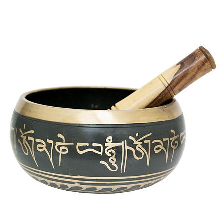 Tibetan Singing Bowl Black 6""