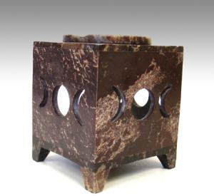 Tripple Moon Stone Carved Square Oil Diffuser