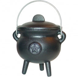 Cast Iron Cauldron Mini Pentacle