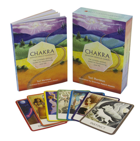 CHAKRA WISDOM ORACLE: The Complete Spiritual Toolkit For Transforming Your Life (49-card deck & book) by  Hartman, Tori
