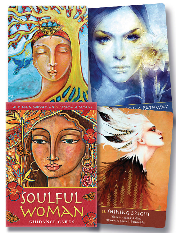 Soulful Woman Guidance Cards  BY SHUSHANN MOVSESSIAN, GEMMA SUMMERS