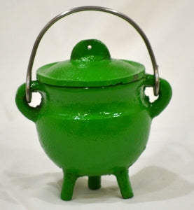 Cast Iron Cauldron w/lid GREEN