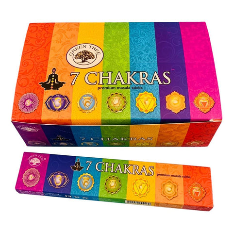 Green Tree Incense 7 Chakras 15 Gram