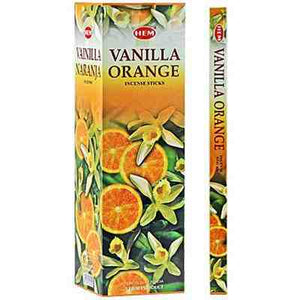 Hem Vanilla Orange incense 8 stick pack