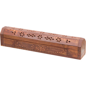 Tree Laser Etched Wood Incense Storage Box