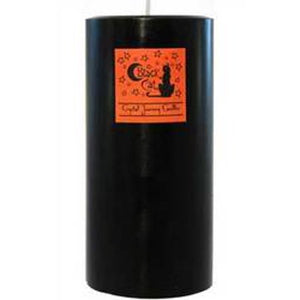 Black Cat Pillar Candle 3x6