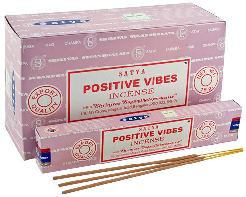 Satya Positive Vibes Incense15 Gram Pack