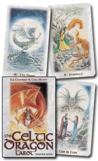 The Celtic Dragon Tarot Kit BY D.J. CONWAY, LISA HUNT
