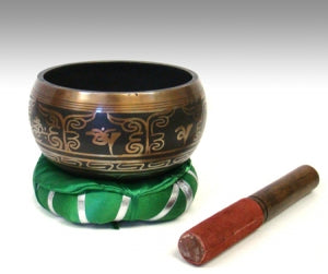 "Tibetan Singing Bowl 6""D w/Free Cushion"
