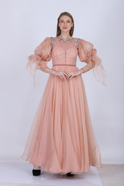 Blush Organza Anarkali
