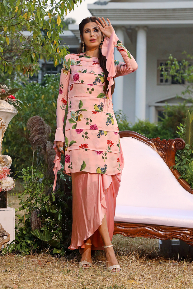 Blush printed kurti set