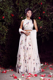 Masoom Minawala In Our Ivory Tiered Lehenga Set