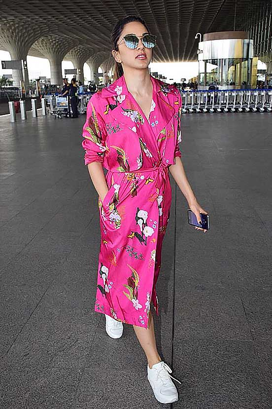 Kiara Advani in our Pink Trenchcoat